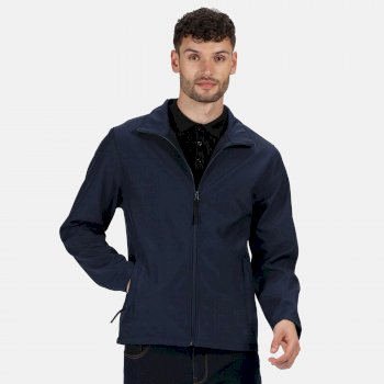 Men's Classic Printable Lightweight Softshell Jacket Navy