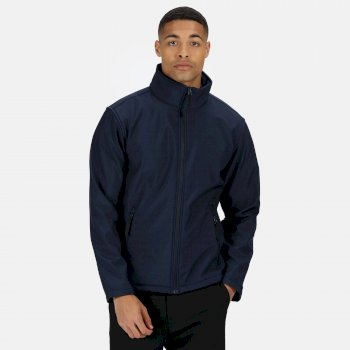 Men's Classic 3 Layer Softshell Jacket Navy Seal Grey