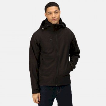 Men's Powergrid 3 Layer Hooded Softshell Jacket Black