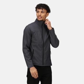 Men's Octagon II Printable 3 Layer Membrane Softshell Jacket Seal Grey Black