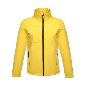 Men's Octagon II Printable 3 Layer Membrane Softshell Jacket Bright Yellow Black