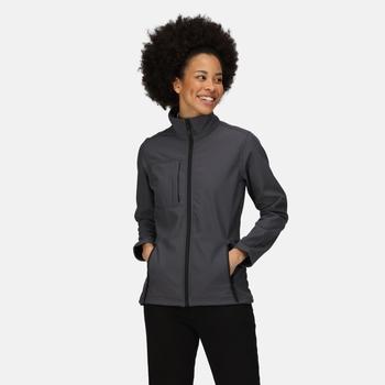 Women's Octagon II Printable 3 Layer Membrane Softshell Jacket Seal Grey Black