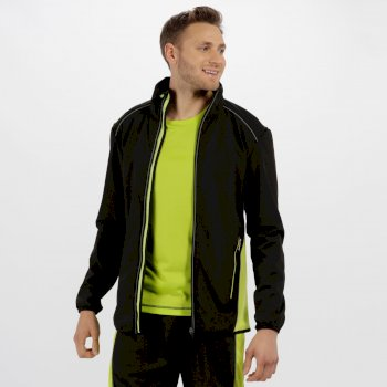 Men's Sochi Reflective Softshell Jacket Black Lime Zest