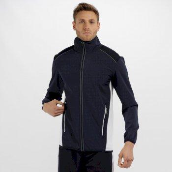 Men's Sochi Reflective Softshell Jacket Navy/White
