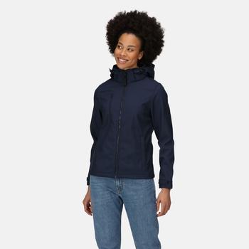 Women's Venturer 3-layer Printable Hooded Softshell Jacket Navy