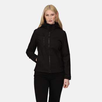Women's Venturer 3-layer Printable Hooded Softshell Jacket Black