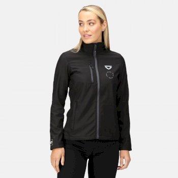 Women's Veloce Recycled Softshell Jacket Black