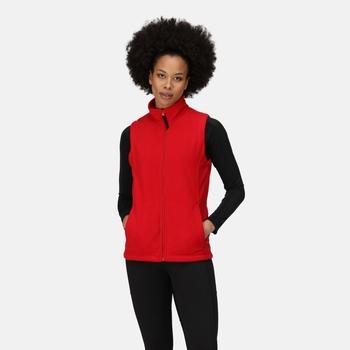 Women's Micro Fleece Bodywarmer Classic Red