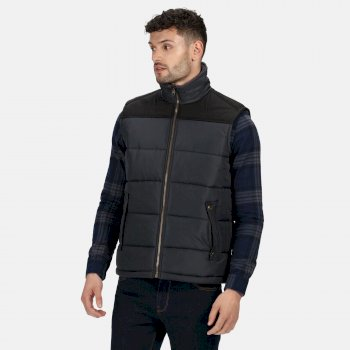 Men's Altoona Insulated Quilted Gilet Seal Grey Black