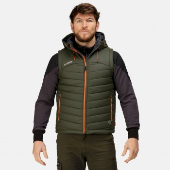 Men's Calculate Insulated Bodywarmer Dark Khaki