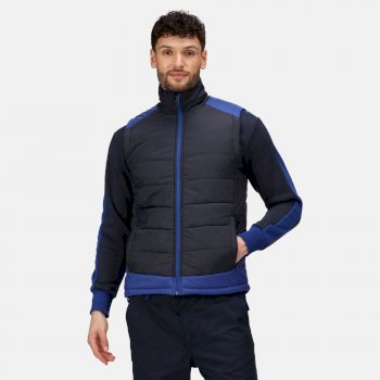 Men's Contrast Insulated Body Warmer Navy New Royal Blue