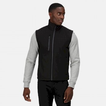 Men's Honestly Made Recycled Printable Softshell Bodywarmer Black