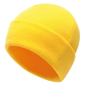 Men's Axton Cuffed Beanie Bright Yellow
