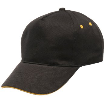 Men's Amston Cap Black Bright Yellow