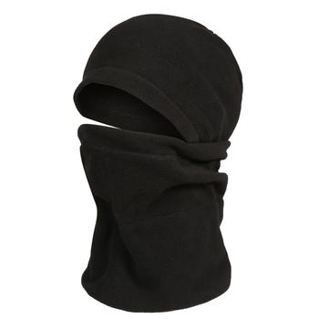 Adult's Hooded Fleece Snood Black