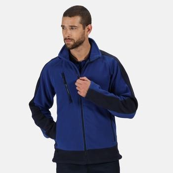 Men's Contrast Heavyweight Full Zip Fleece New Royal Blue Navy