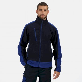 Men's Contrast 300 Heavyweight Full Zip Fleece Navy New Royal Blue