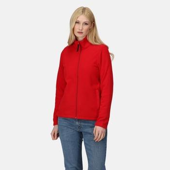 Women's Micro Lightweight Full Zip Fleece Classic Red
