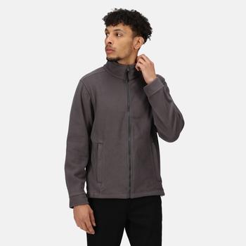 Men's Classic Full Zip Fleece Seal Grey