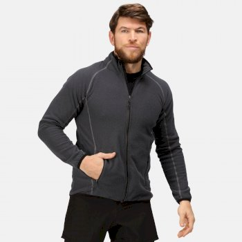 Men's Dreamste Full Zip Mini Honeycomb Fleece Seal Grey