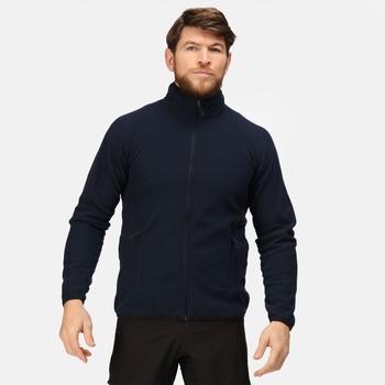 Men's Dreamste Full Zip Mini Honeycomb Fleece Navy