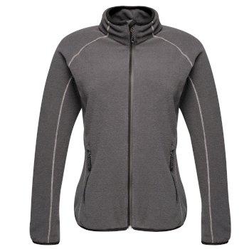 Women's Dreamste Full Zip Mini Honeycomb Fleece Seal Grey