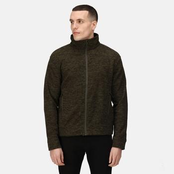 Men's Thornly Marl Full Zip Fleece Dark Khaki Marl