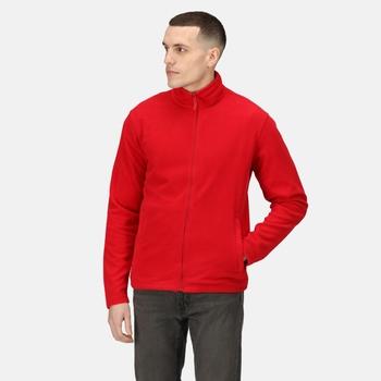 Men's Classic Full Zip Lightweight Microfleece Classic Red