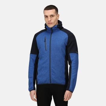 Men's X-Pro Coldspring II Hybrid Full Zip Hooded Fleece  Oxford Blue Marl Navy