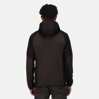 Men's X-Pro Coldspring II Hybrid Full Zip Hooded Fleece  Grey Marl Black