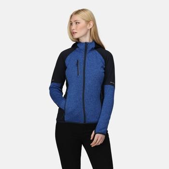 Women's X-Pro Coldspring II Hybrid Full Zip Hooded Fleece  Oxford Blue Marl Navy