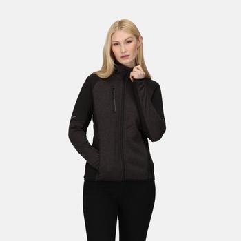 Women's X-Pro Coldspring II Hybrid Full Zip Hooded Fleece  Grey Marl Black