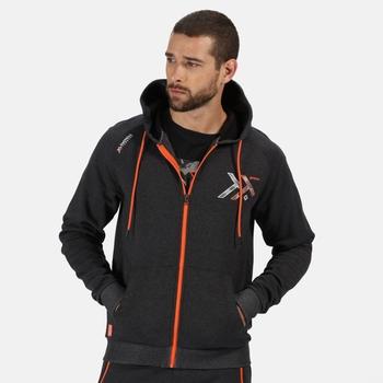 Men's Tactical Maneuvar Hooded Full Zip Fleece Seal Grey