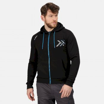 Men's Tactical Maneuvar Hooded Full Zip Fleece Black
