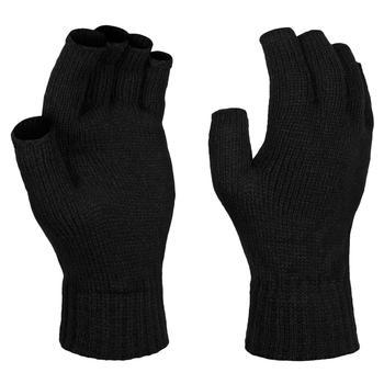Men's Thermal Fingerless Gloves Black