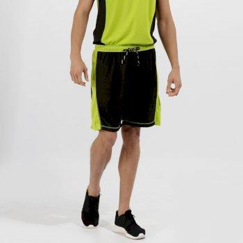 Men's Tokyo II Sport Shorts Black Lime Zest