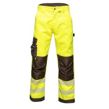 Męskie wytrzymałe spodnie  o zwiększonej widoczności Professional żółte