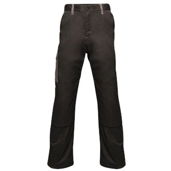 Men's Contrast Cargo Trousers Black Seal Grey