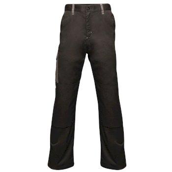 Men's Contrast Cargo Trousers Black Seal Grey