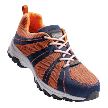 Men's Rapide Knit Steel Toe Cap Safety Trainers Navy Orange