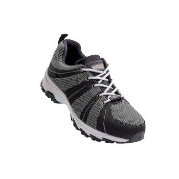 Rapide Knit Steel Toe Cap Safety Trainer Black Grey