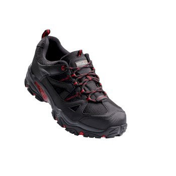 Men's Riverbeck Steel Toe Cap Safety Trainers Black Red
