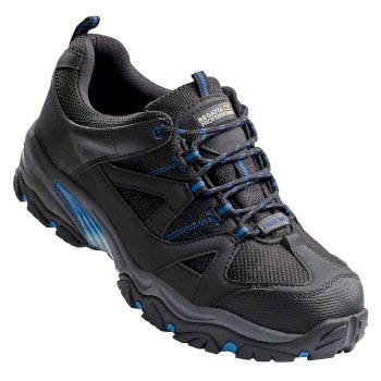 Riverbeck Steel Toe Cap Safety Trainer Black Oxford Blue