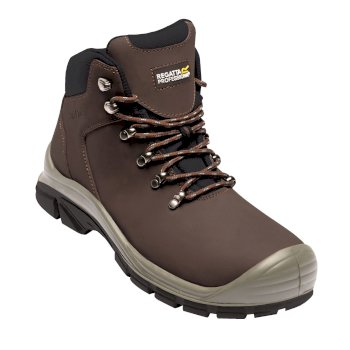 Men's Peakdale Steel Toe Cap Safety Work Boots Peat