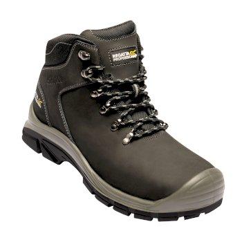Men's Peakdale Steel Toe Cap Safety Work Boots Black