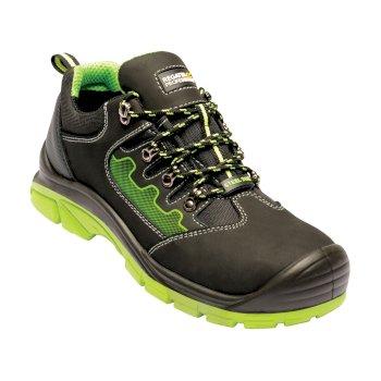 Men's Region Steel Toe Cap Safety Trainers Black Green