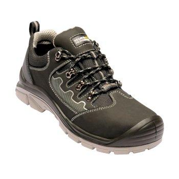 Men's Region Steel Toe Cap Safety Trainers Black Grey