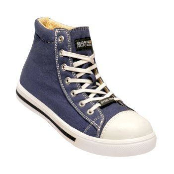 Men's Playoff Steel Toe Cap Safety Boots Blue White