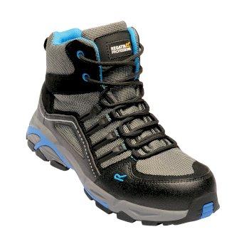 Men's Convex Steel Toe Cap Safety Hiker Black Oxford Blue