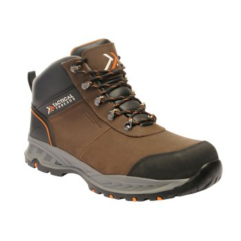 Men's First Strike Tactical Work Boots Brown